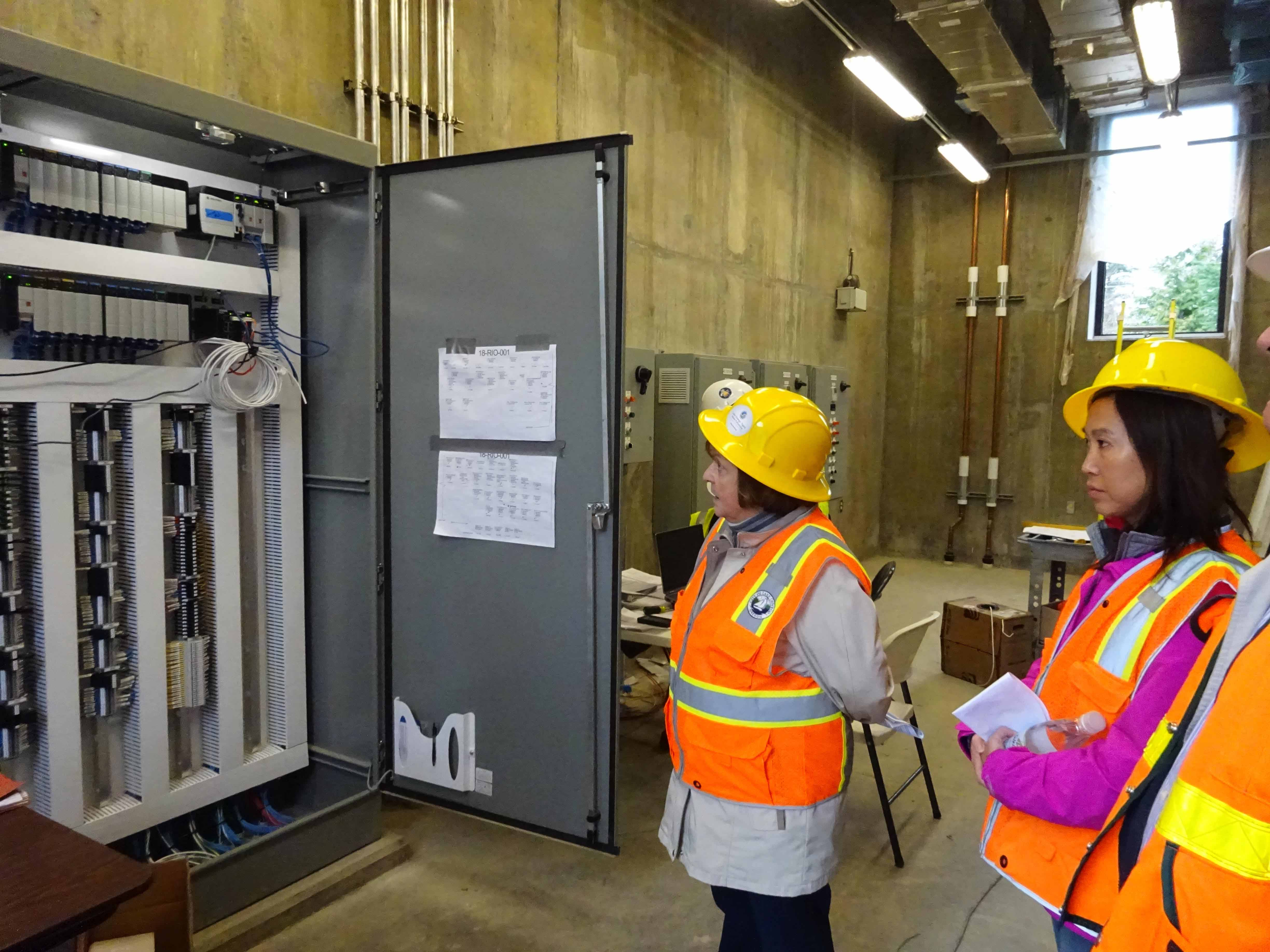 electrical control panel room for mechanical dewatering building LOW ...