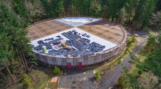 Waluga Reservoir 1 has a new roof!