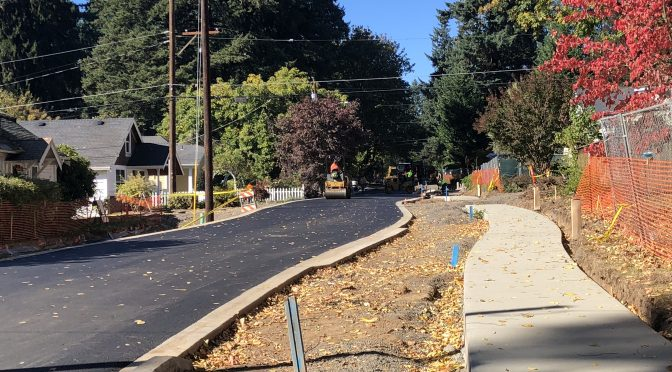 New Sidewalk on D Avenue Almost Complete!