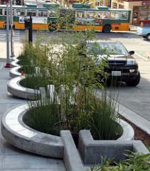 artistic stormwater planters
