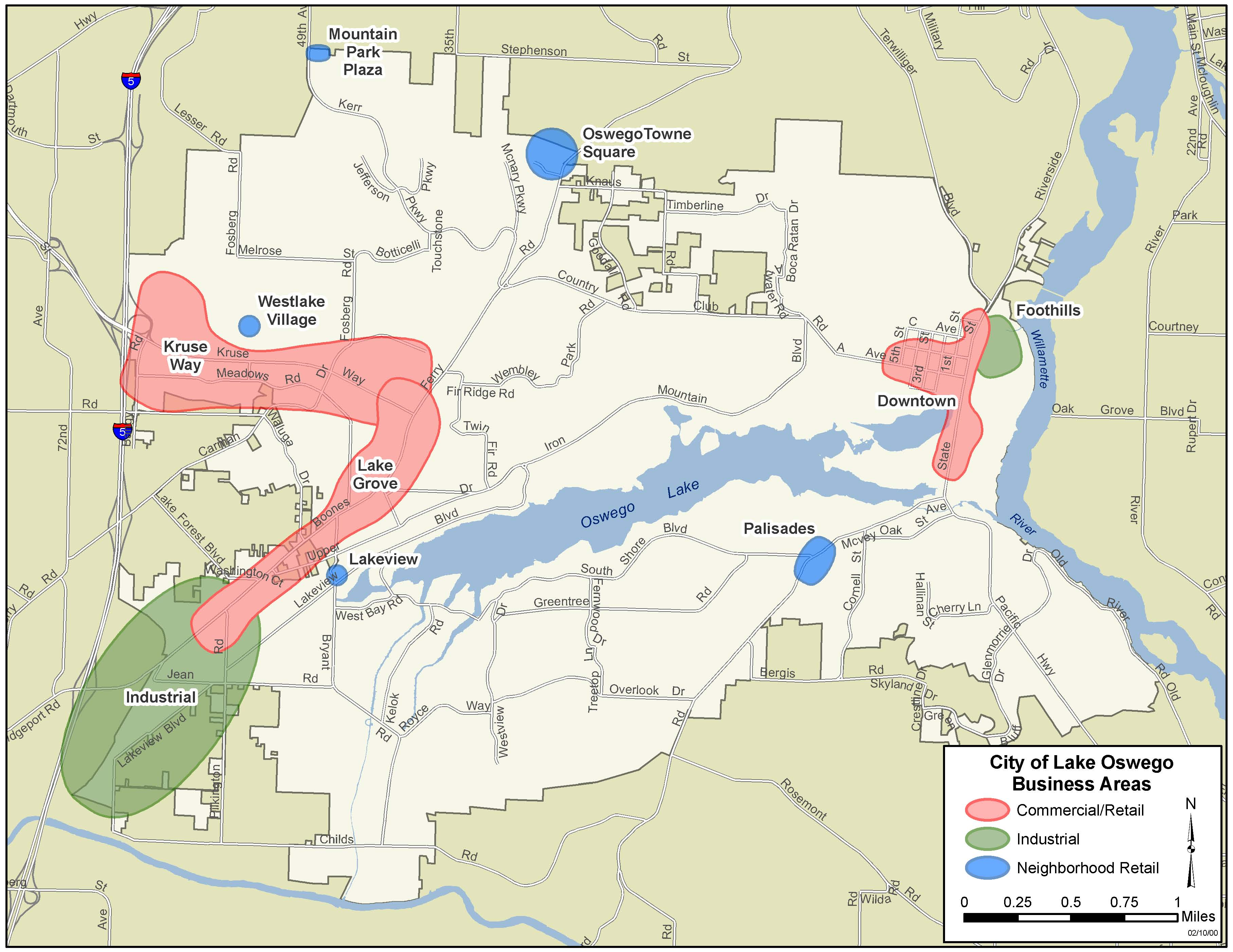 Map of Business Districts City of Lake Oswego