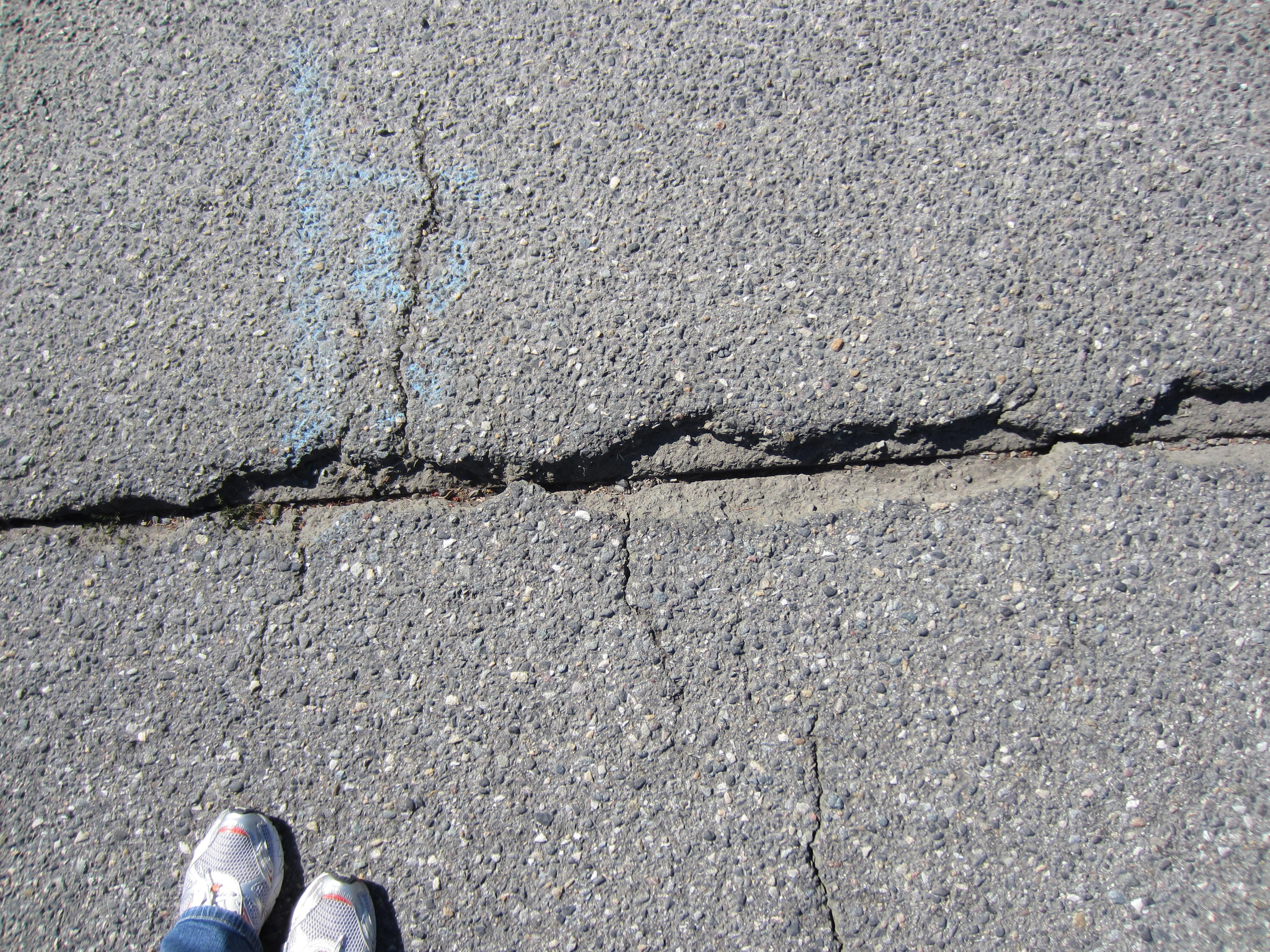 A Avenue cracks