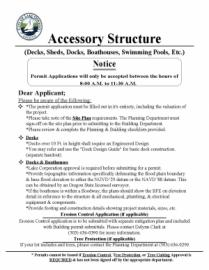 Accessory Structure Application Packet