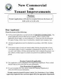 City of Lake Oswego Tenant Improvement Application Packet