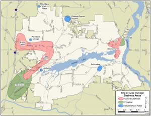 Lake Oswego Business District Map