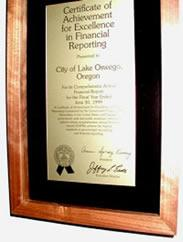 Financial Reporting Plaque