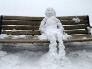 Waiting for the Bus at Summit by Meredith Sanman