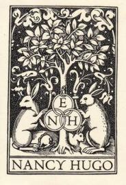Rabbits Congregating -- Bookplate