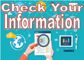 Check Your Information