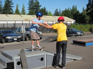 Learn to skate at the LO Skate Park