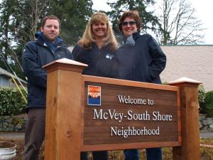 McVey-South Shore Neighborhood Sign