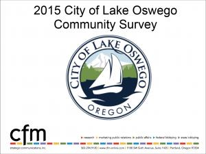 City of Lake Oswego Community Survey