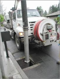 Vactor Truck Cleaning Catch Basin