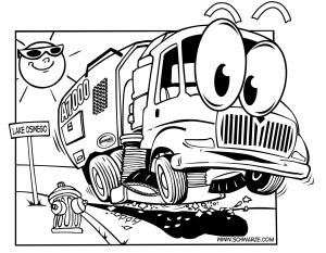 Street Sweeper Naming & Coloring Contest