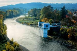 City of Lake Oswego Water Intake on Clackamas River
