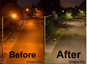 LED example before and after