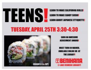 sushi program for teens