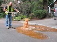 City of Lake Oswego Oregon water line flushing