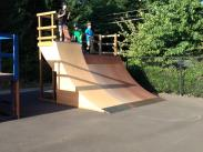 New and improved quarter pipe is ready to ride! Completed project by Eagle Scout Ian Fisher on August 16th 2013.