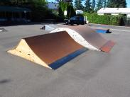 Spine Ramp. New reconstructed design of the spine ramp. LO Skate Park's Alex and Dave created a smaller, easier and more fun addition to the park in 2013.