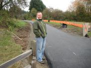 HAPPY PAVING DAY for Ivan Anderholm, Parks and Recreation Assistant Director and Project Manager