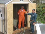 Jim and Lavieng re-building pumphouse along the trail- nice work fellows!