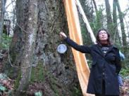 Nicole Roskos with Medallion - In Front of 300 Year Old Tree