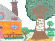 Arbor Day Poster Contest:  Eva Tipton, 6th Grade, LO Junior HS
