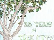 Arbor Day Poster Contest, First Place: Peyton Poitras, 6th Grade, LO Junior HS