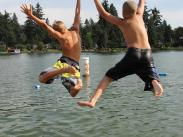 Category 1 - 1st Place:  Summer at Lake Grove Swim Park by Ronda Sol