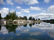 Cat2 – Places in LO, 2nd Place:  Reflections on Oswego Lake by Francie Manning