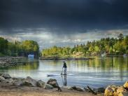 Cat2 Second:  Paddleboarder on Willamette by Bruce Lee