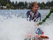 Cat3 Third:  Grandson Wakeboarding by Carol Goerges