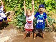 Category 3 – Second Place:  Childrens Garden Fun in the Mud by Pam Helling