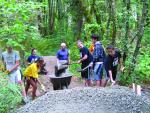 Lake Oswego High School students volunteering for trail project, 2011