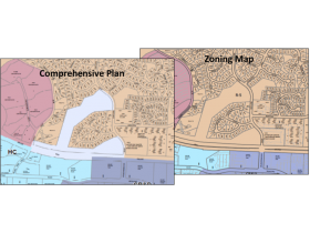 Comp Plan Map and Zoning Map