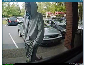 Suspect before robbery