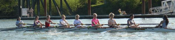Rowing on Willamette River
