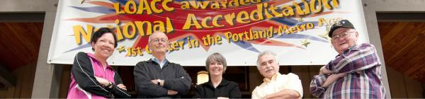Lake Oswego Adult Community Center Accreditation Award