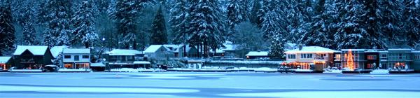 Oswego Lake in the winter