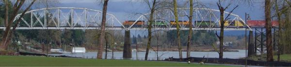 Train over Willamette River