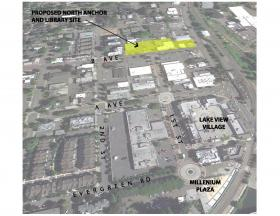 Library/North Anchor Project Concept Aerial View