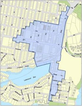Proposed Downtwon Parking District Boundary Map