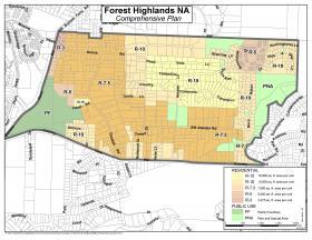 Forest Highlands Comprehensive Plan Map