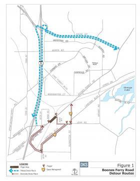 Boones Ferry Rd (Chow Corner) Detour Plan