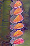 Abstract Image Suggesting Petals or Leaves in Pink and Orange Tones