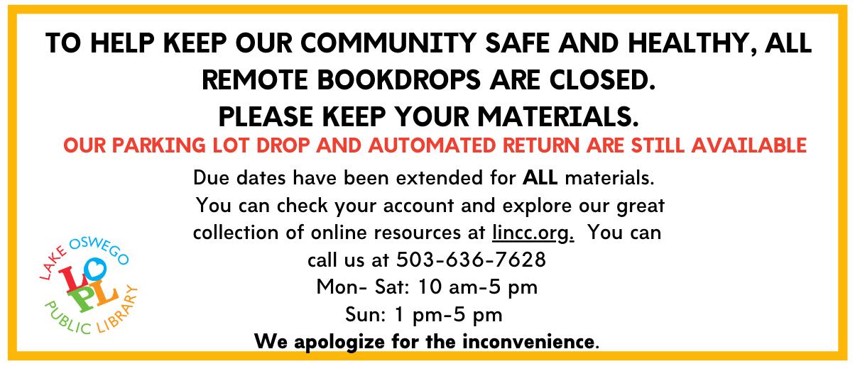 Remote Bookdrops Closure