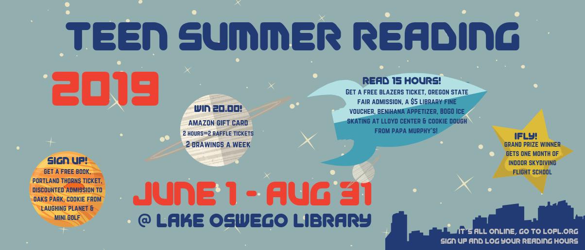 Teen Summer Reading 2019 Banner