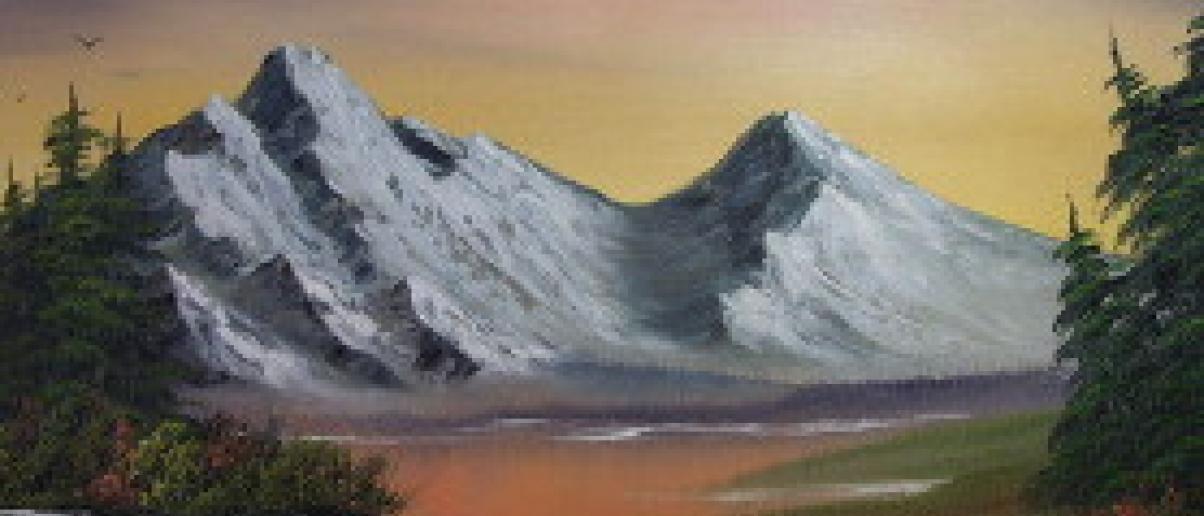 Bob Ross Oil Painting City Of Lake Oswego