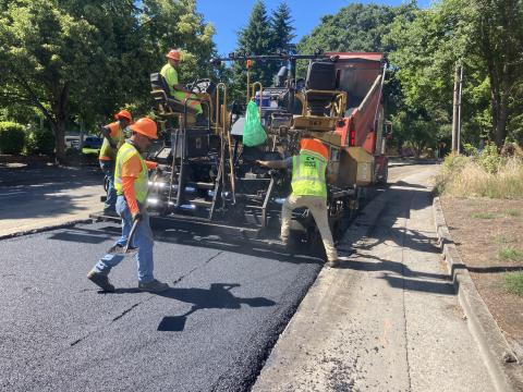 Paving at Bryant and Jean